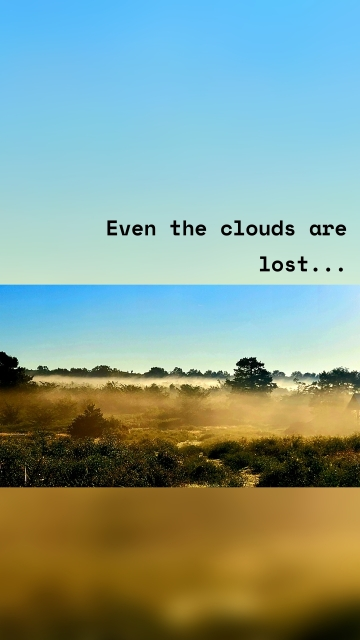 Even the clouds are lost...